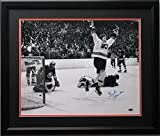 Bobby Clarke Autographed Picture - 16x20 Flying framed - Autographed NHL Photos