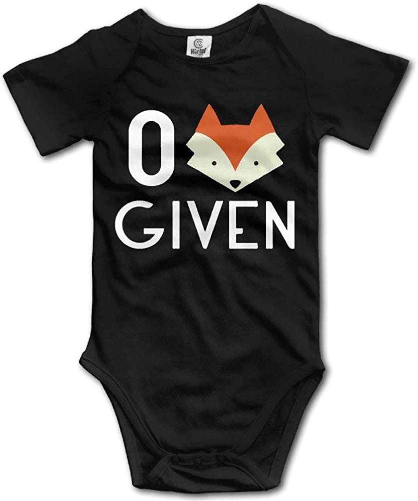 Hotone Baby Boys Girls Rompers Kids Little Fox Figure Short Sleeve Suits Set