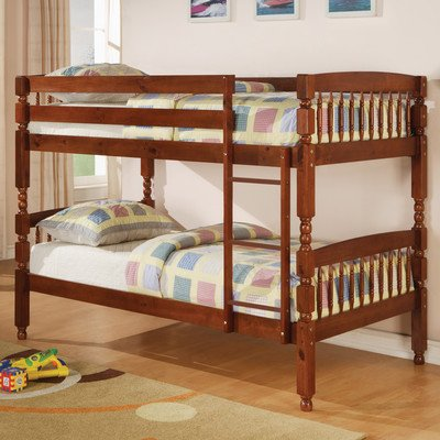 Amazon Com Creekside Twin Over Twin Bunk Bed With Built In Ladder