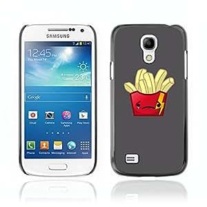 CASETOPIA / Sad Fries / Samsung Galaxy S4 Mini i9190 MINI VERSION! / Prima Delgada SLIM Casa Carcasa Funda Case Bandera Cover Armor Shell PC / Aliminium