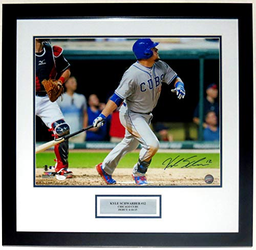 Kyle Schwarber Autographed Signed Cubs 1st Home Run 16x20 Photo JSA COA Framed & Plate - Authentic Memorabilia