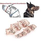 AOBILE(TM)Pet Dog Muzzle PE Plastic Basket Adjustable Mesh Mask Mouth Cage Large Plastic PE
