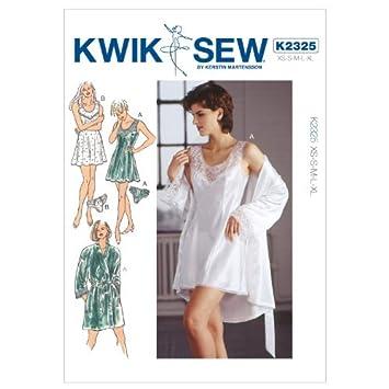 Kwik Sew K2325 Chemise Sewing Pattern, Robe and Panties by KWIK-SEW ...