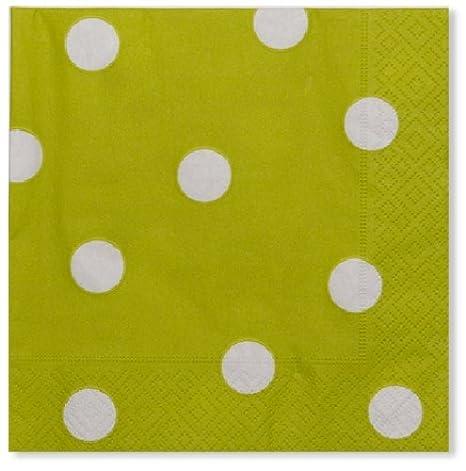 EXCLUSIVE TRADE S.R.L. - 20 TOALLAS POIS verde lima: Amazon.es: Juguetes y juegos