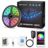 LED Strip Lights, Kwanan 16.4ft(5M) WiFi Led Light Strip Waterproof Wireless Smart Phone App Controlled 5050 LED Strips Music Sync with Alexa Android iOS Google