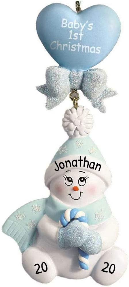 Personalized Candy-Cane Baby's 1st Christmas Tree Ornament 2020