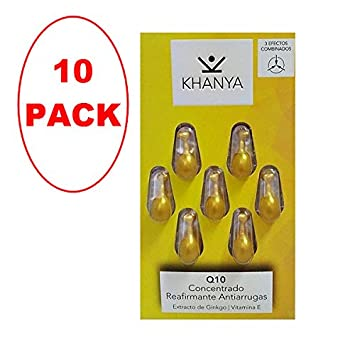 KHANYA Facial Pearls Q10 Firming Anti-Wrinkle 7 capsules. PACK OF 10