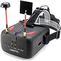 Chunnuan Eachine VR D2 5 Inches 800x480 40CH Raceband 5.8G Diversity FPV Video Recording DVR Goggles Lens Adjustable