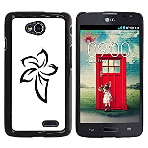 For LG Optimus L70 / LS620 / D325 / MS323 Case , Pattern Celtic Ink Tattoo White - Diseño Patrón Teléfono Caso Cubierta Case Bumper Duro Protección Case Cover Funda
