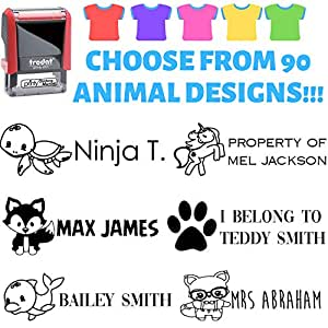 Amazon.com: Kids Clothing Stamp - Choose Your Animal - Black ...