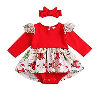 ASHOP Vestidos niña/ Vestido de Encaje de Navidad de Mameluco/Tutu ...