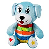 "BUCKLE TOY ""Barkley"" Dog - Toddler Early Learning Basic Life Skills Children's Plush Travel Activity"