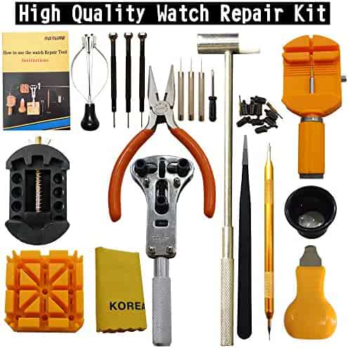 Watch Repair Kit Professional Opener Spring Bar Tool Set Watch Band Link Pin Tool Set With Carrying Case