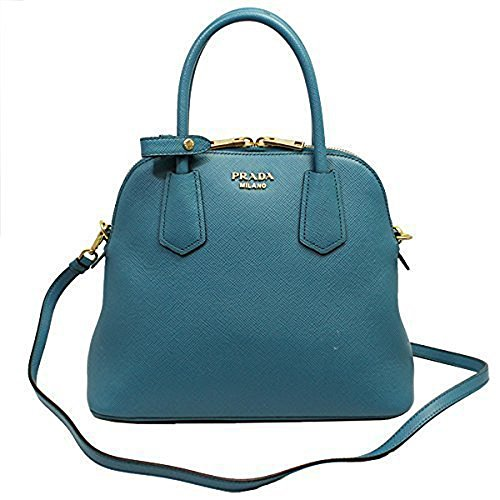 Prada Blue Leather Hand Bag