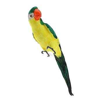 Große Papagei Vogelfigur Vögelchen Dekofigur Dekovögel aus Künstliche