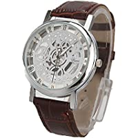 Han Shi Luxury Watch, Men Fashion Quartz Wristwatch Military Sport Leather Band Dial Clock