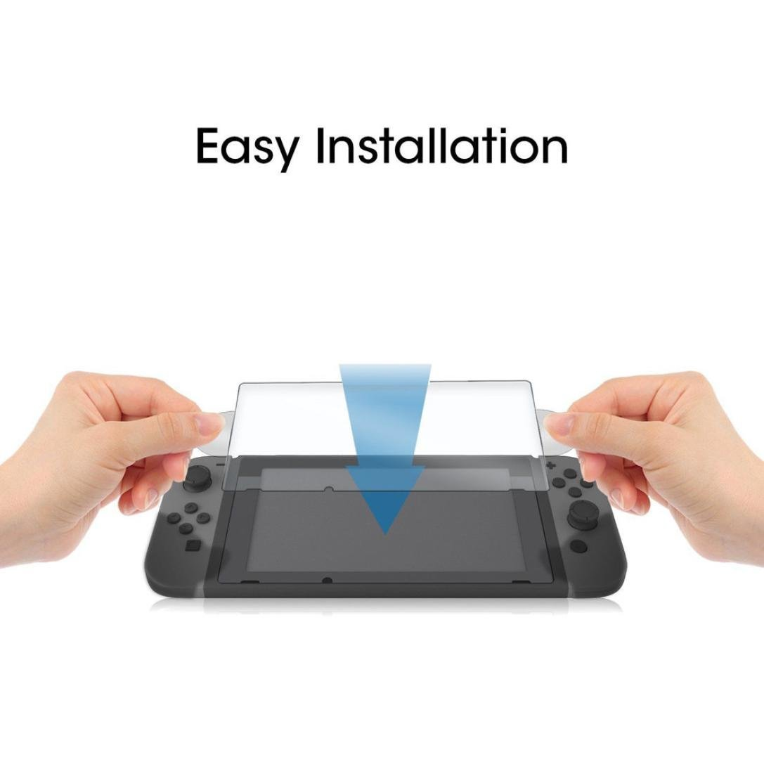 Vanvler Tempered glass Screen Protector Film Guard Sheet for Nintendo Switch Console Clear (2PCS) by Vanvler (Image #8)