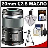 Olympus M.Zuiko 60mm f/2.8 MSC ED Macro Digital Lens (Black) with Tripod + Accessory Kit for Pen E-PL2, E-PL3, E-PL5, E-PM1, E-PM2, OM-D E-M5 Digital Camera, Best Gadgets