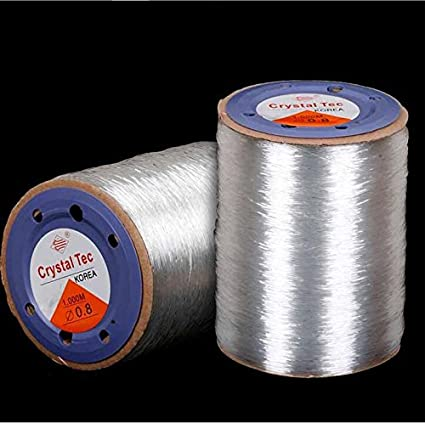 1.0 mm 1 roll 4 m Strongly clear Stretch Jewelry Elastic Cord