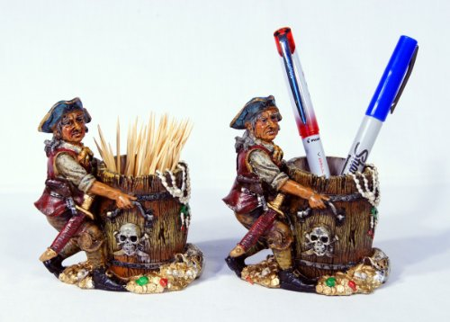 Star Toothpick Holder (Hand Painted Pirate Toothpick Tooth stick Pen Holder 4