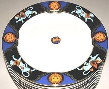 SIMBA, Serie BOPLA porcelana MAGIC oro plato grande 27 cm 18 dorada colchón grande con