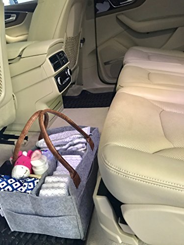 Lily Miles Baby Diaper Caddy Large Portable Car Travel Organizer Newborn Registry Must Haves Nursery Diaper Tote Bag Baby Shower Gift Basket Boy Girl Diaper Storage Bin for Changing Table