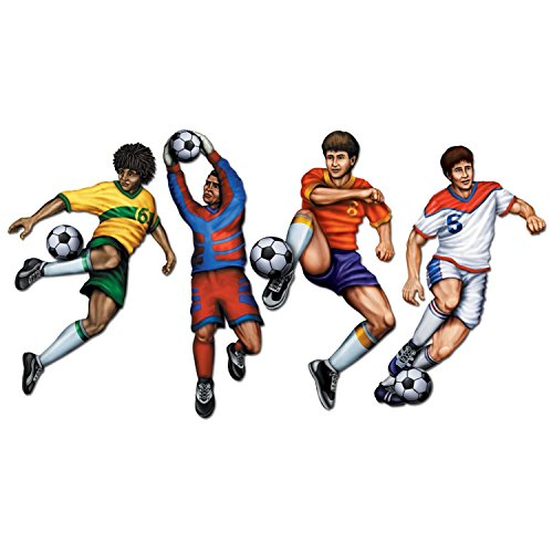 ve Soccer Player Party Decoration Cutouts 20