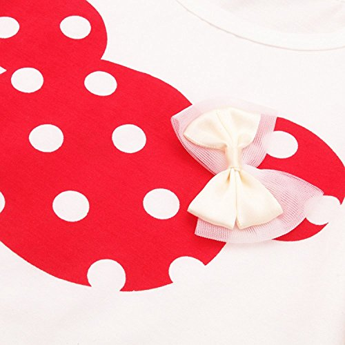 Baby Girl Clothes Infant Outfits Set 2 Pieces Long Sleeved Tops + Pants (2-3 T, Red) by MH-Lucky (Image #2)
