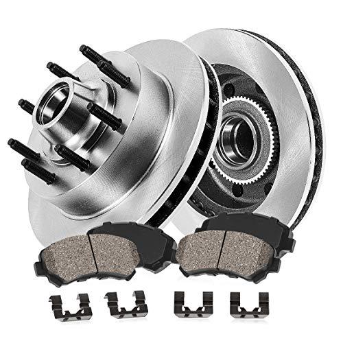 FRONT 331 mm Premium OE 8 Lug [2] Brake Disc Rotors + [4] Ceramic Brake Pads + Hardware