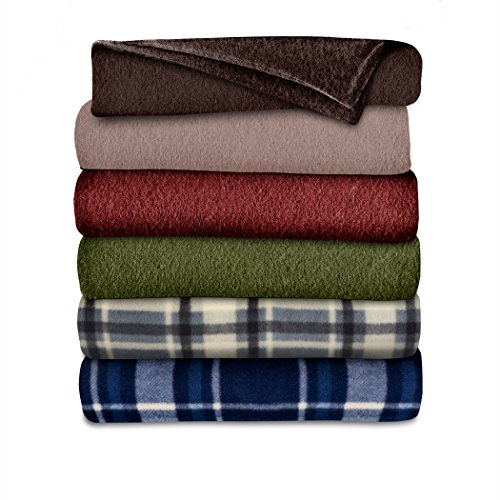 Sunbeam Throw Blanket | Fleece, 3 Heat Settings, - Heated Throw Warming Fleece Electric