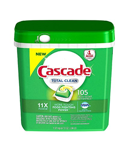 Cascade Total Clean Gel Dishwasher Detergent Pacs, Fresh Scent (105 ct.) by Cascade