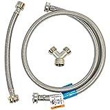 Certified Appliance STMKIT3 Braided Stainless Steel Steam Dryer Installation Kit, 6', Gray