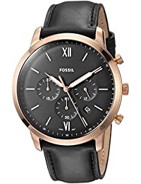 Men's 'Neutra Chrono' Quartz Stainless Steel and Leather Casual Watch, Color:Black (Model: FS5381)