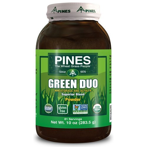 Pines Wheat Grass Green Duo Organic Superior Blend Powder - 10 Oz (pack of 1)
