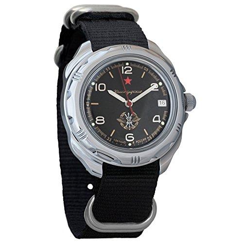 Movement Russian Vostok Watch - Vostok Komandirskie 2414 211296NB Russian Military Mechanical Watch