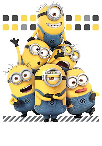 10 Inch Minions Despicable Me 3 Wall Decal Sticker Minion Removable Peel Self Stick Adhesive Vinyl Decorative Art Kids Room Home Decor Children 8 1/2 by 10 1/2 Inch -