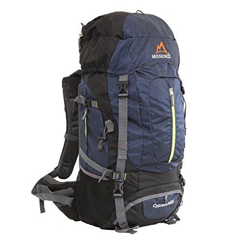 MISSION PEAK GEAR Cypress 3000 50L Internal Frame Backpack (Navy)