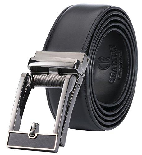 Ratchet Click Dress Belt for Men–Comfort Genuine Leather Belt with Automatic Buckle