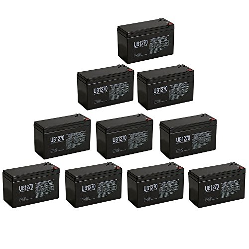 12V 7Ah SLA Battery for Altronix AL175ULX - 10 Pack (Power Supply Al175ulx)