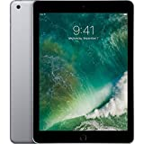 Apple iPad with WiFi, 128GB, Space Gray (2018 Model) (Renewed)