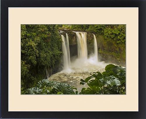 Framed Print of USA, Hawaii, The Big Island, Wailuku River, Rainbow Falls. Scenic of multiple by Fine Art Storehouse
