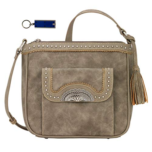 Light Concealed Charm Crossbody Bandana American Stone Puse Cary Top West Zip Bundle Handbag w 7pWTvq