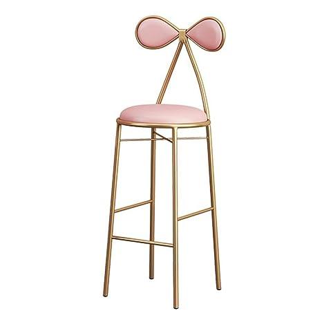 Fine Amazon Com Wdopzms Bar Chair Bow Chair Backrest Kitchen Bar Theyellowbook Wood Chair Design Ideas Theyellowbookinfo