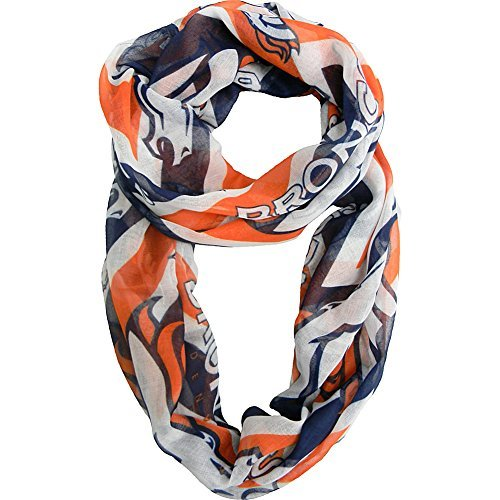 NFL Sheer Infinity Scarf Chevron Pattern (Denver Broncos) by LE