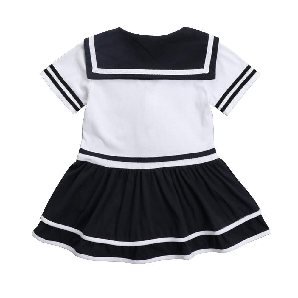 shangzhongshangmao Baby Girl Sailor Tights Dress New Summer Dress 1-12 Months