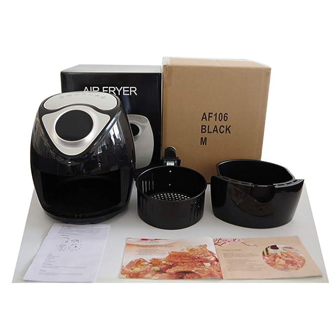 MJW Freidora De Aire De Múltiples Funciones Hogar Smart Touch Pantalla Freidora Eléctrica Sin Humo Gran Capacidad Patatas Fritas Máquina: Amazon.es