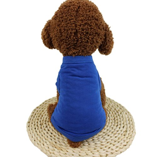 Pet Clothes, OOEOO Cute Dog Cat Solid Vest Clothing Puppy Costume Tank Top Doggy Apparel (E, S)