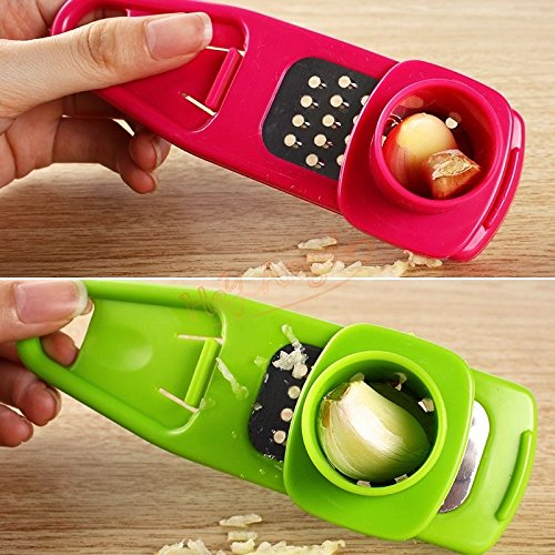 Home Kitchen Tool Stainless Steel Garlic Press Gadgets Presser Crusher Masher