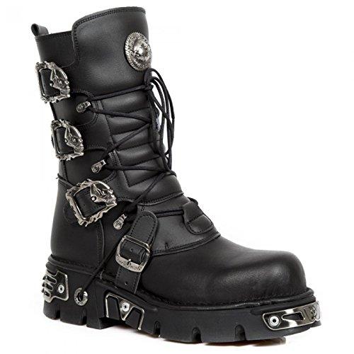 Nuovi Stivali Di Roccia M.391-vc1 Gotico Hardrock Punk Stiefel Unisex Schwarz