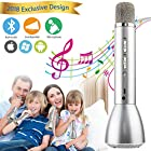 Wireless Karaoke Microphone, Portable Kids Microphone With Bluetooth Speaker Handle Karaoke Mic Singing Machine for Children Boys Girls Adult Party Birthday Gift, Support Andriod IOS Smartphone